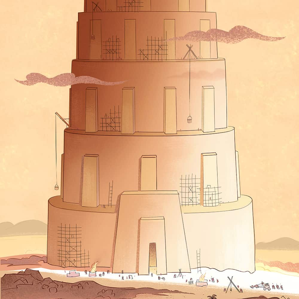 The Tower Of Babel Bible Activities On Sunday School Zone