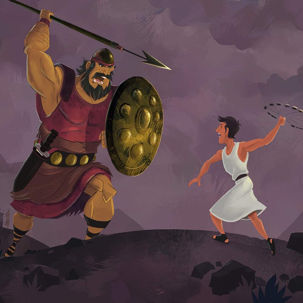 image regarding David and Goliath Printable Story named Free of charge, Printable David and Goliath Bible Routines upon Sunday