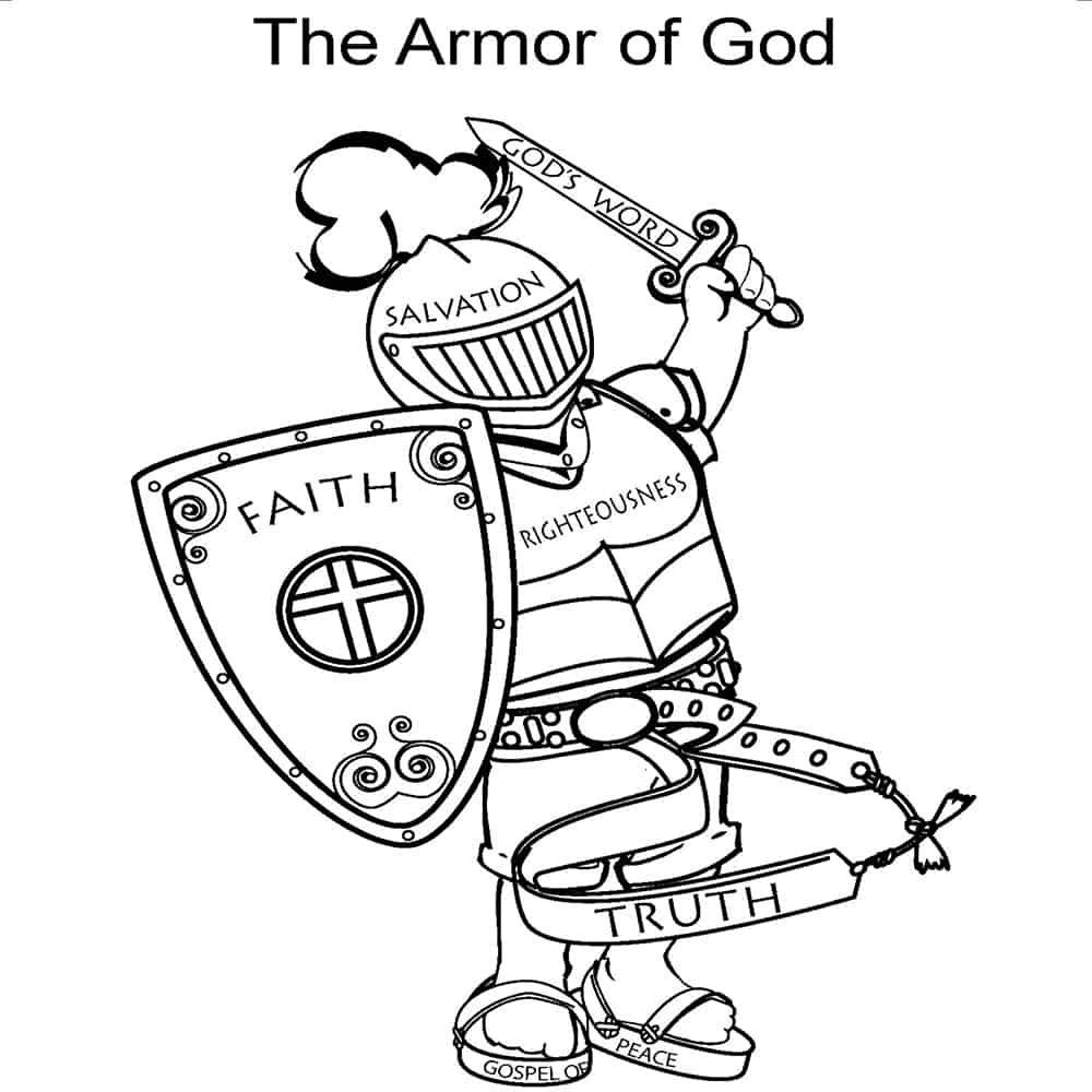 Free Printable Armor Of God Activities On Sunday School Zone