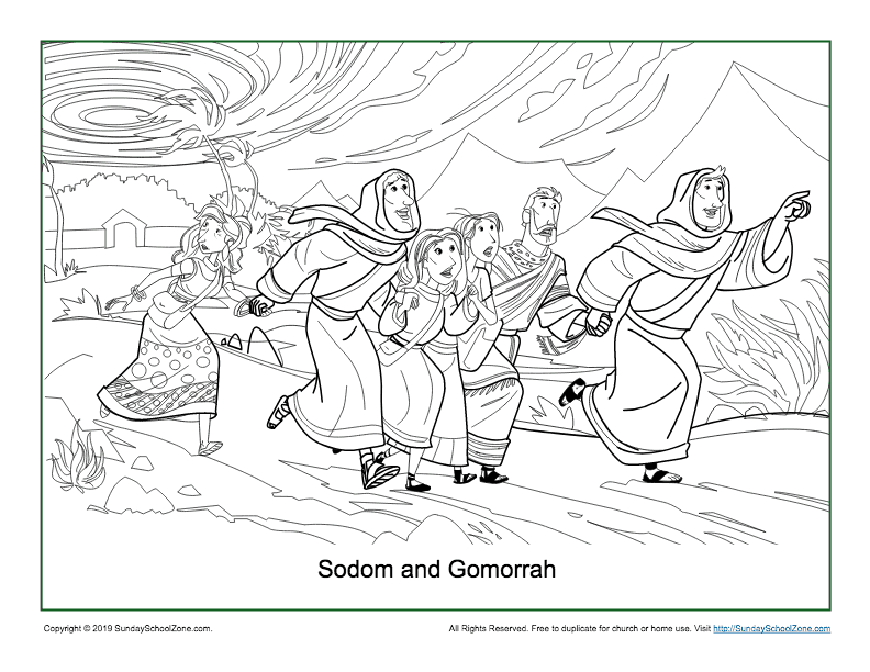 - Sodom And Gomorrah Coloring Page On Sunday School Zone
