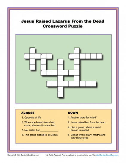 This is an image of Printable Bible Crossword Puzzles with regard to printable crossdoku word